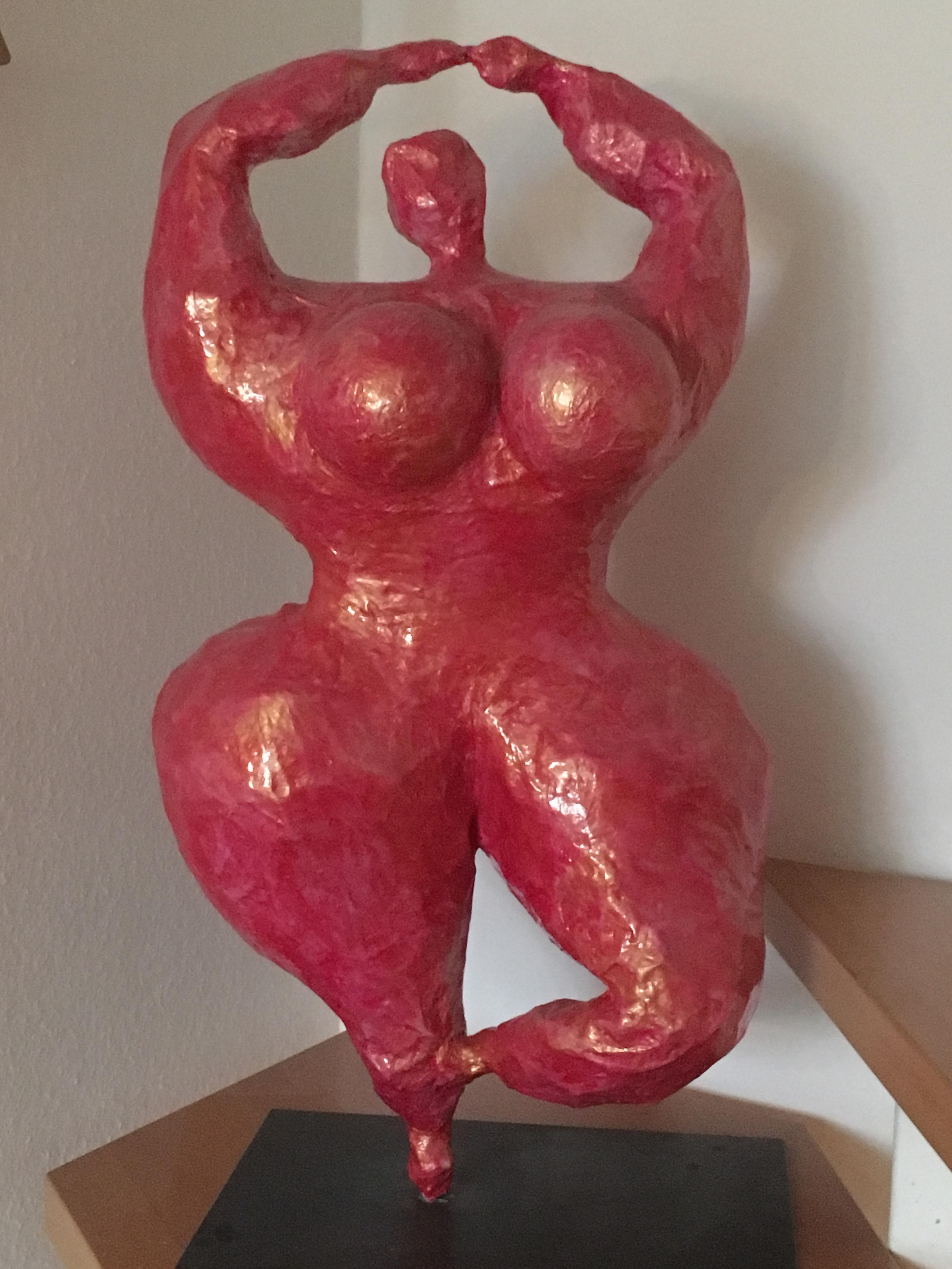 Skulptur Indoor Akan-Dame
