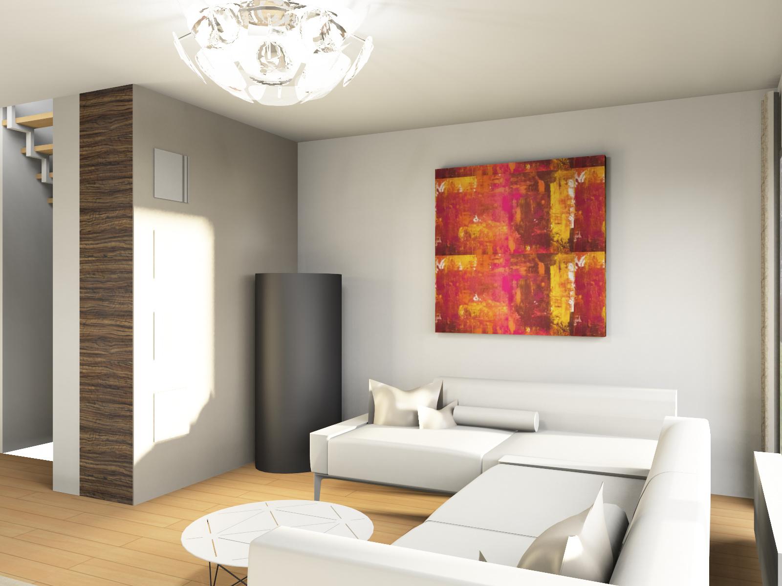 Wohnzimmer Sofa 3D Visualisierung