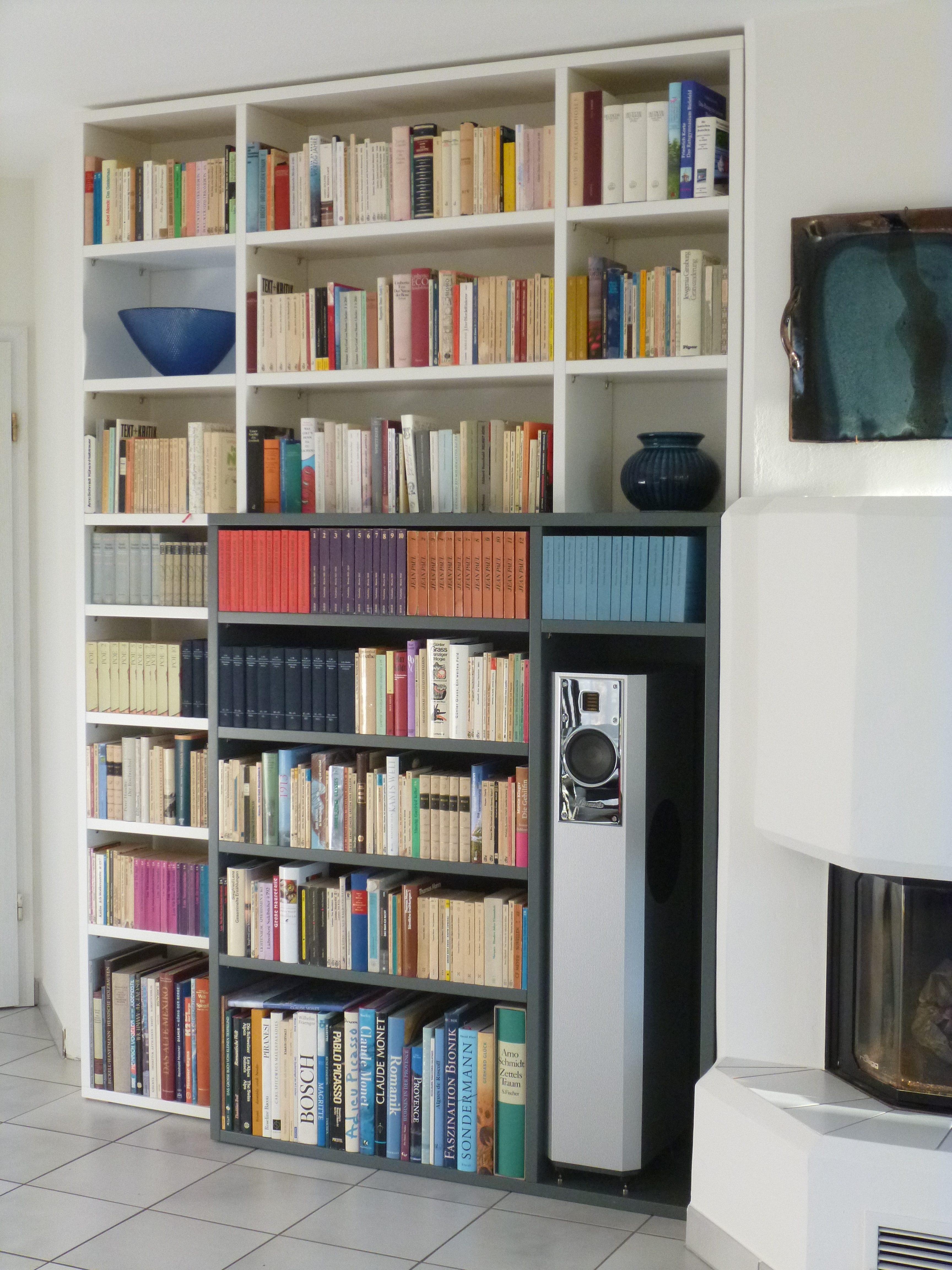 Kamin Bücherregal Einbauschrank 2