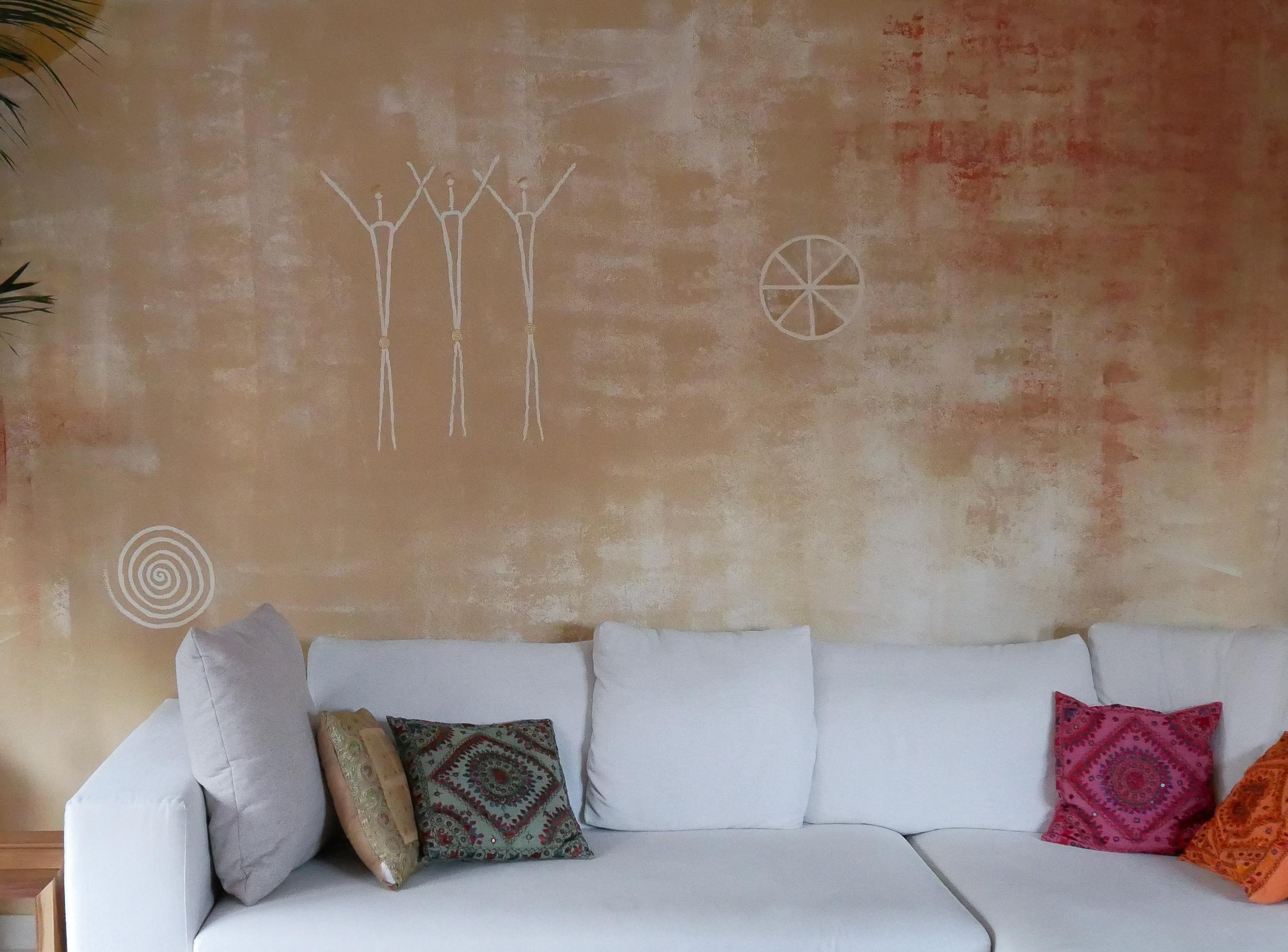 Kunst Wandmalerei Wohnzimmer