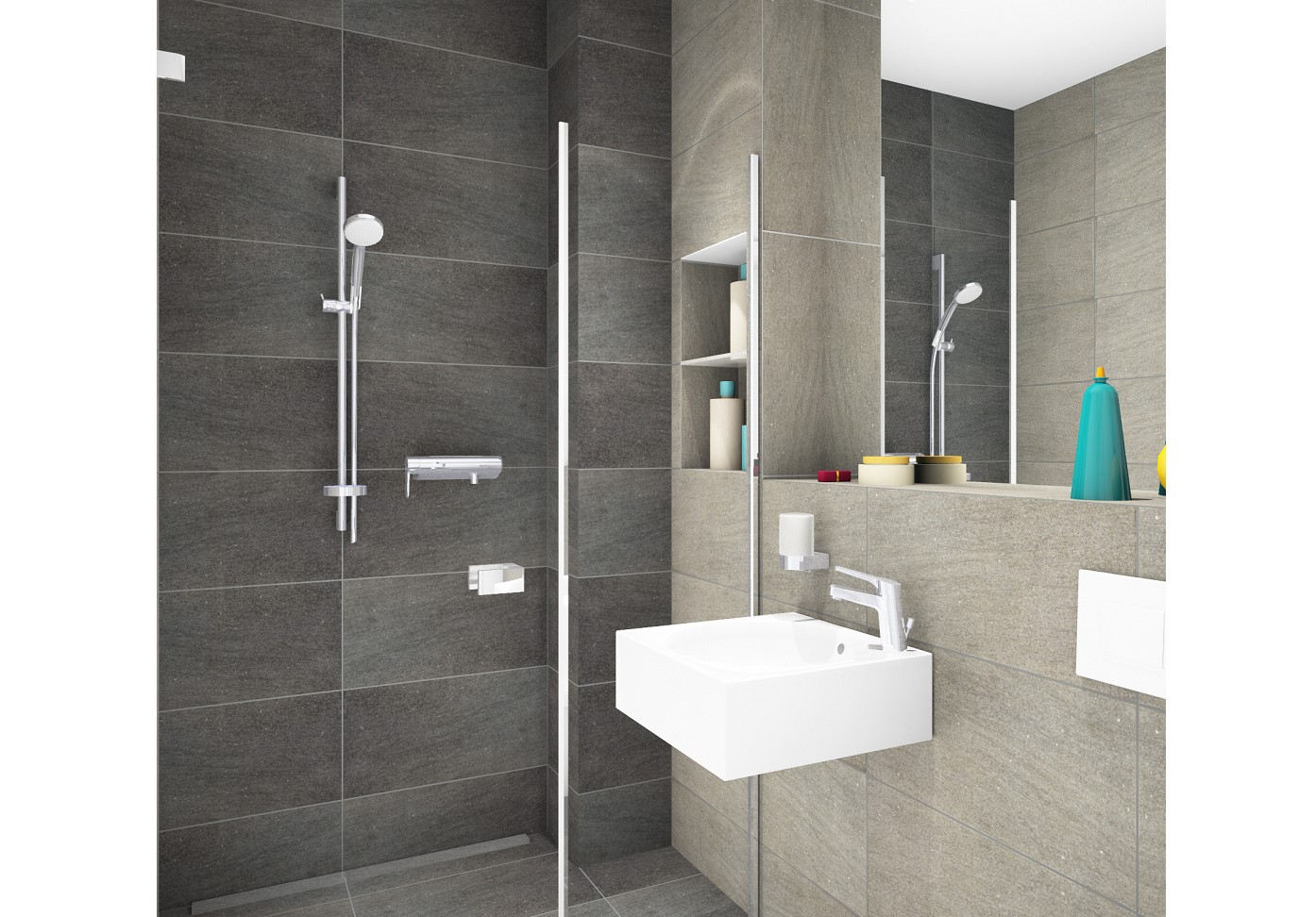 Planung Dusche Bad