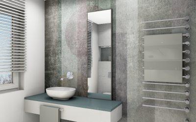 Wallpaper in Wohnräumen und Badezimmern