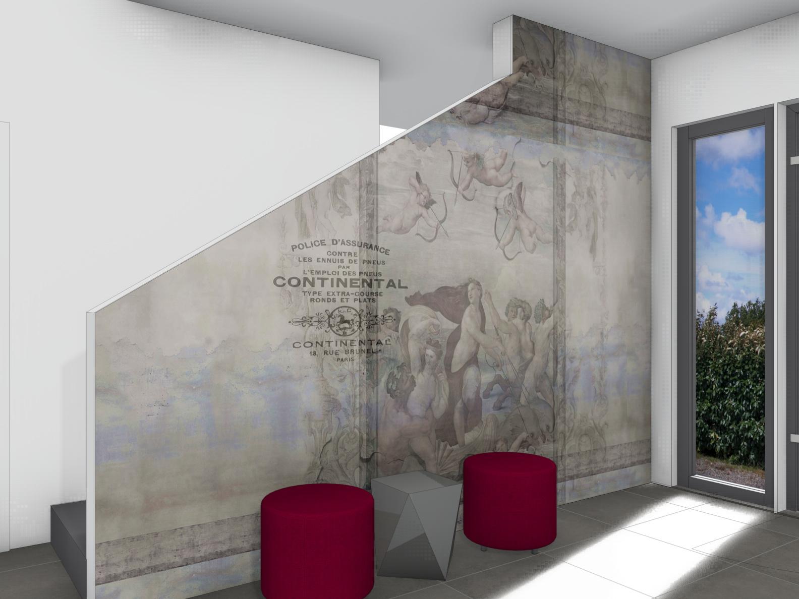 Eingangsbereich mit Wallpaper