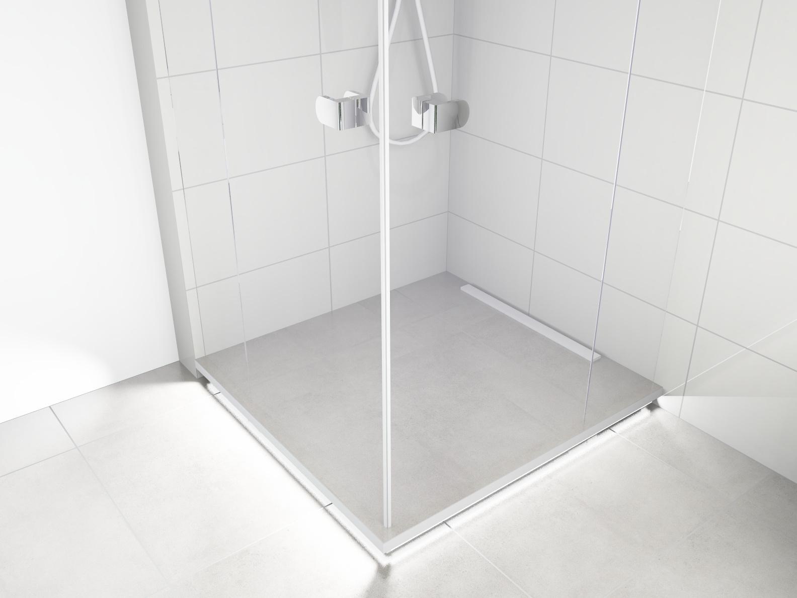 Küche mit Rolladen-Oberschrank